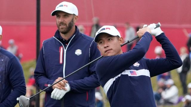 Ryder Cup Team USA Golfers Collin Morikawa and Dustin Johnson
