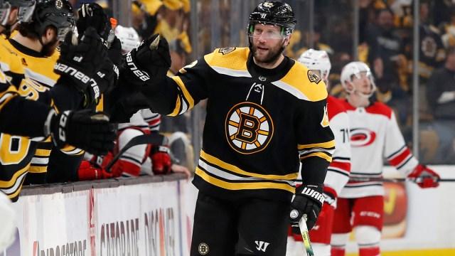 Former Boston Bruins forward David Backes