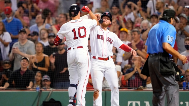 Boston Red Sox Outfielders Hunter Renfroe And Alex Verdugo