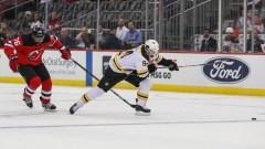 Boston Bruins winger Jakub Lauko, New Jersey Devils defenseman PK Subban