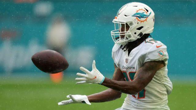Miami Dolphins receiver Jaylen Waddle