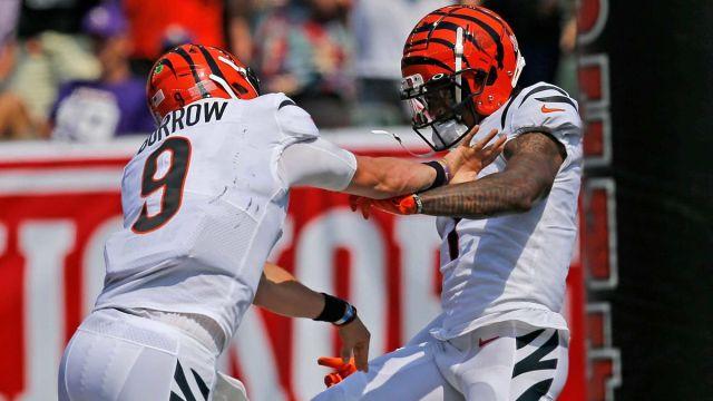 Cincinnati Bengals quarterback Joe Burrow and wide receiver Ja'Marr Chase