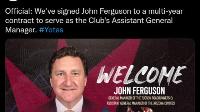 Boston Bruins Director Of Player Personnel John Ferguson