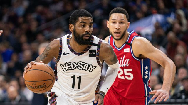 Brooklyn Nets point guard Kyrie Irving, Philadelphia 76ers point guard Ben Simmons
