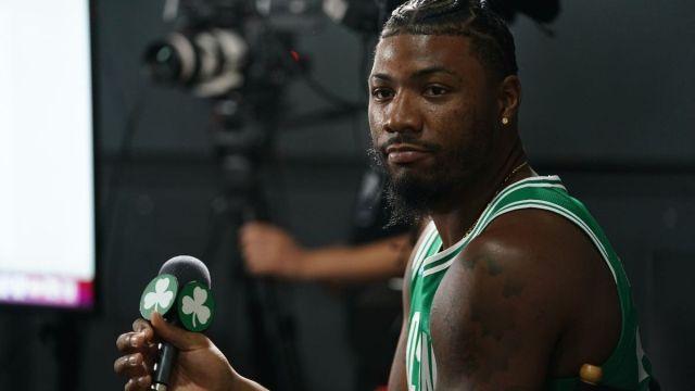 Boston Celtics point guard Marcus Smart