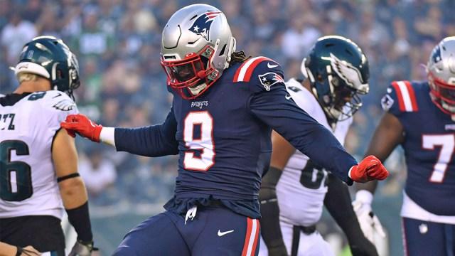 New England Patriots defensive end Matthew Judon