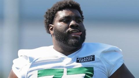 New York Jets offensive tackle Mekhi Becton