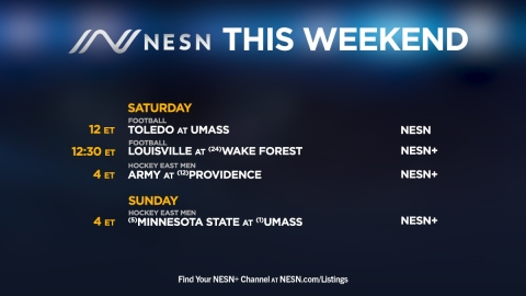 NESN weekend college sports lineup
