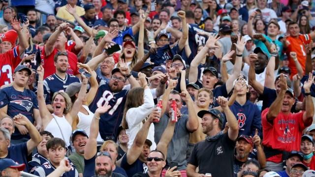New England Patriots fans at Gillette Stadium