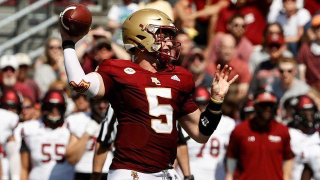 Boston College Quarterback Phil Jurkovec