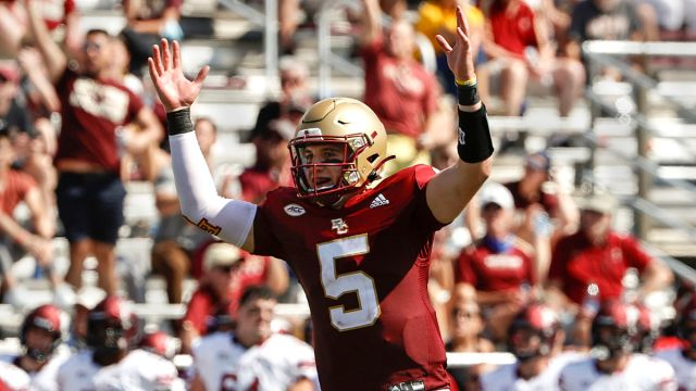 Boston College Eagles Quarterback Phil Jurkovec