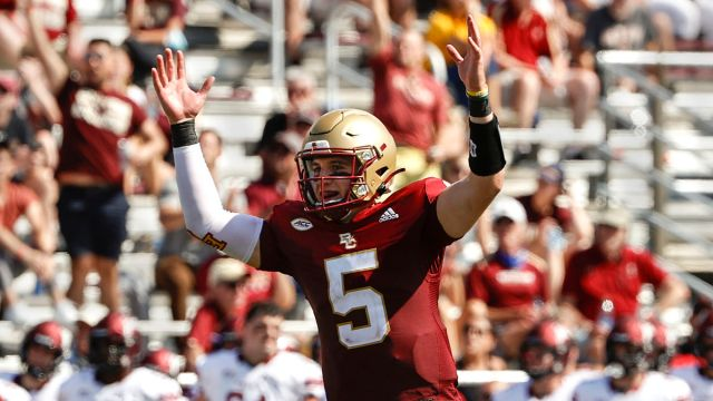 NCAA Football: Phil Jurkovec Colgate at Boston College