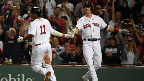 Boston Red Sox Infielders Rafael Devers And Bobby Dalbec