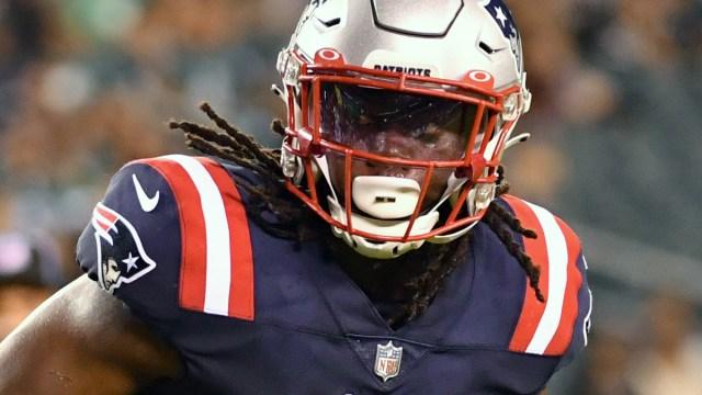 New England Patriots running back Rhamondre Stevenson