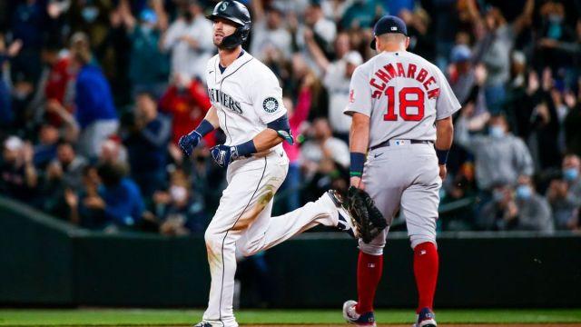 Boston Red Sox pitcher Ryan Brasier, Seattle Mariners Mitch Haniger