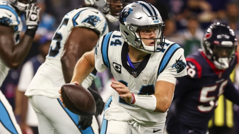 Carolina Panthers quarterback Sam Darnold