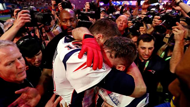Former Patriots Tom Brady and Julian Edelman