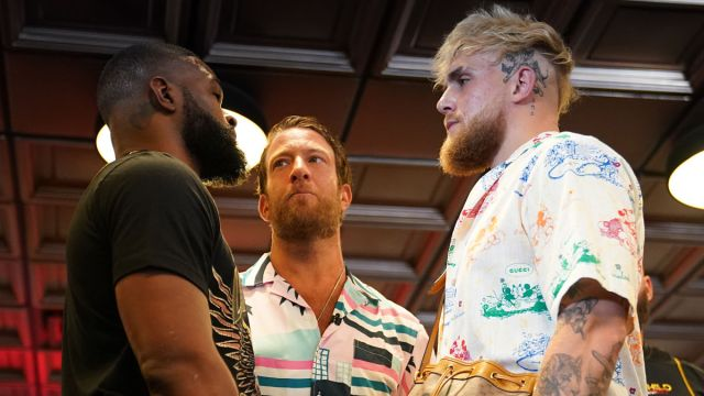 UFC fighter Tyron Woodley and YouTube star Jake Paul