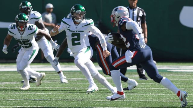 New York Jets quarterback Zach Wilson and New England Patriots safety Devin McCourty