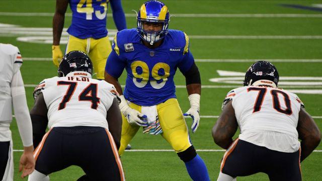 Los Angeles Rams defensive end Aaron Donald