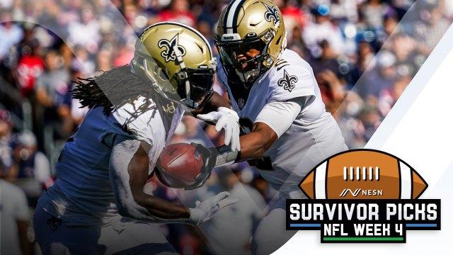 New Orleans Saints quarterback Jameis Winston, running back Alvin Kamara