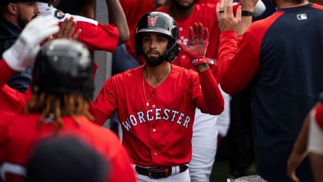 Boston Red Sox infielder Jack Lopez