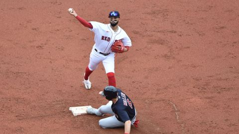 Boston Red Sox shortstop Jonathan Arauz