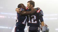 New England Patriots special teamer Matthew Slater and Tampa Bay Buccaneers quarterback Tom Brady