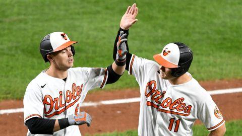 Baltimore Orioles shorthstop Pat Valaika