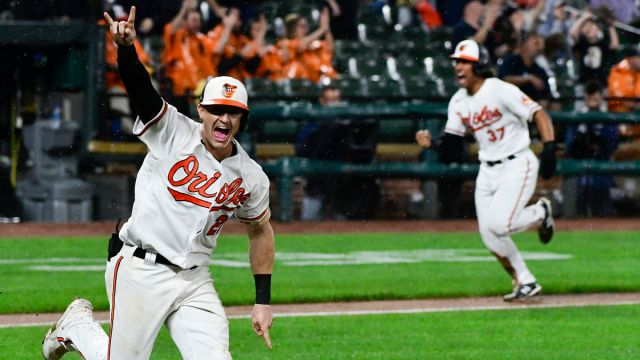 Baltimore Orioles outfielder Austin Hayes
