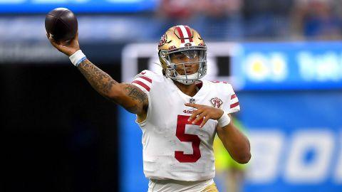 San Francisco 49ers quarterback Trey Lance