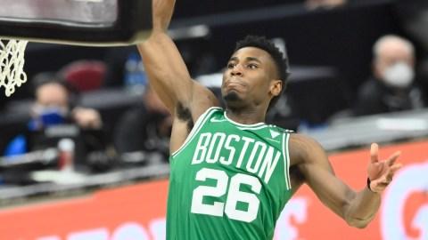 Boston Celtics guard Aaron Nesmith