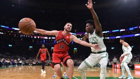 Boston Celtics forward Aaron Nesmith