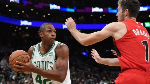 Boston Celtics big Al Horford, Toronto Raptors' Goran Dragic