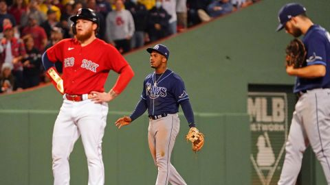 Boston Red Sox outfielder Alex Verdugo and Tampa Bay Rays shortstop Wander Franco