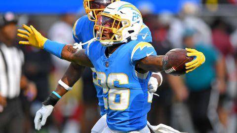 Los Angeles Chargers running back Asante Samuel Jr.