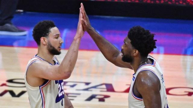 Philadelphia 76ers guard Ben Simmons and center Joel Embiid