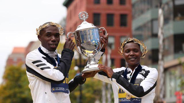 Boston Marathon 2021 winners: Benson Kipruto and Diana Kipyogei