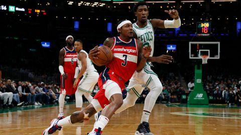 Washington Wizards guard Bradley Beal and Boston Celtics guard Josh Richardson