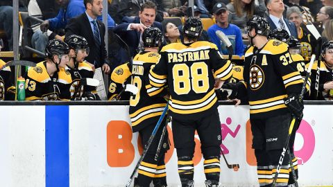 Bruce Cassidy and Bruins Players