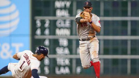 Houston Astros' Carlos Correa, Xander Bogaerts