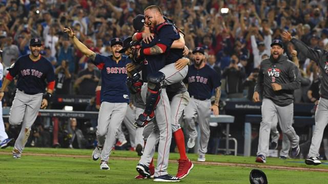 Boston Red Sox pitcher Chris Sale and catcher Christian Vazquez