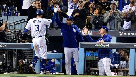 LA Dodgers left fielder Chris Taylor