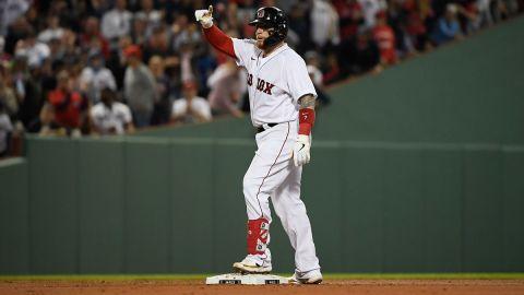 Boston Red Sox catcher Christian Vázquez