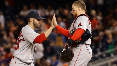 Boston Rede Sox catcher Christian Vázquez, outfielder/DH J.D. Martinez