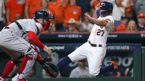 Boston Red Sox catcher Christian Vázquez, Houston Astros second baseman José Altuve