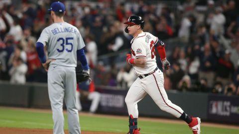 Los Angeles Dodgers first baseman Cody Bellinger and Atlanta Braves outfielder Joc Pederson