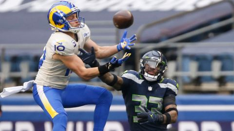 Los Angeles Rams wide receiver Cooper Kupp and Seattle Seahawks safety Jamal Adams