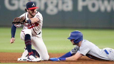 Atlanta Braves shortstop Dansby Swanson and Los Angeles Dodgers second baseman Trea Turner