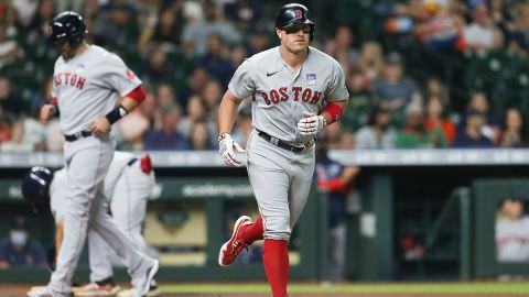 Boston Red Sox designated hitter J.D. Martinez and outfielder Hunter Renfroe